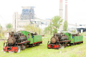 Steam locomotives, Kostolac, Serbia — Stock Photo