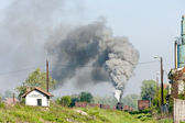 Steam freight train, Durdevik, Bosnia and Hercegovina — Stock Photo