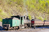 Steam freight train, delivery point in Oskova, Bosnia and Herceg — Stock Photo
