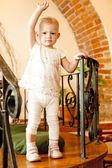 Standing little girl — Stock Photo
