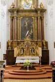 Interior of Church of Saint Cross, Znojmo, Czech Republic — Stock fotografie
