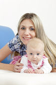 Portrait of mother with her baby — Stock Photo
