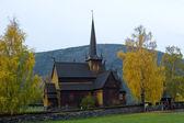 Lom stavkirke, norveç — Stok fotoğraf