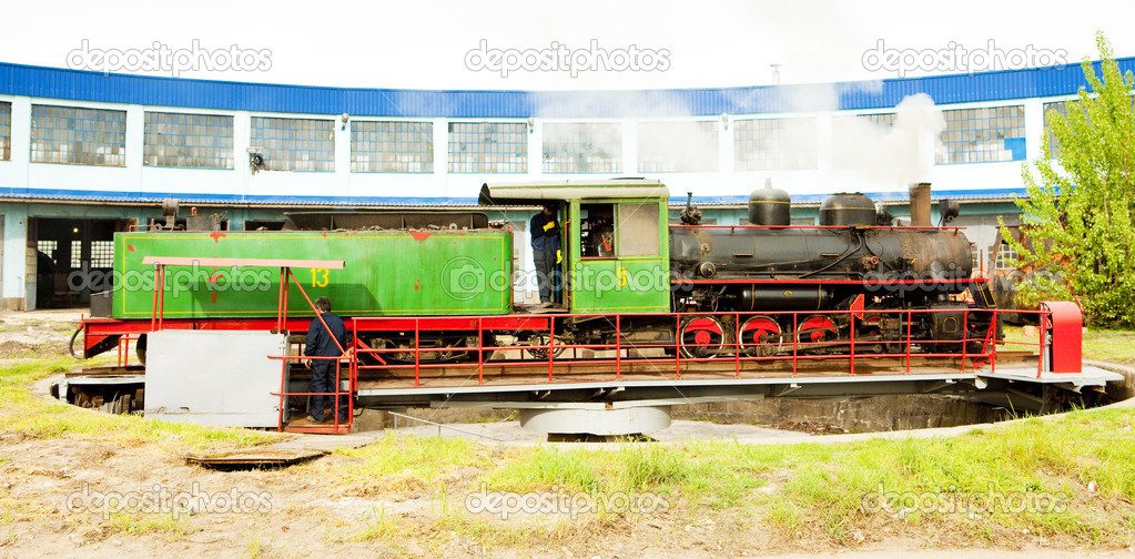 Steam locomotive in depot, Kostolac, Serbia  Stock Photo #11290189