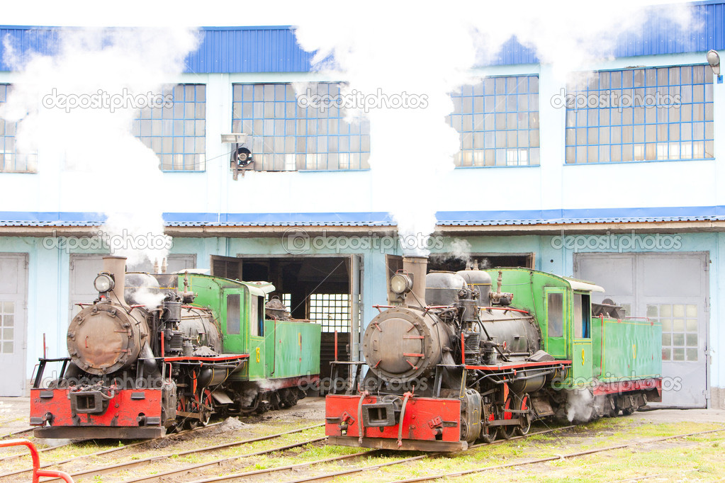 Steam locomotives in depot, Kostolac, Serbia — Stock Photo #11290213