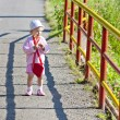 Little girl on walk — Stock Photo