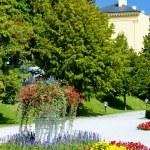 Garden of Grassalkovich Palace, Bratislava, Slovakia — Stock Photo #11425421