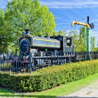 Steam locomotive, Venta de Banos, Castile and Leon, Spain - Stock Photo