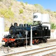 Steam locomotive at railway station in Tua, Douro Valley, Portug — Stock Photo