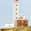 Lighthouse at Sao Pedro de Moel, Estremadura, Portugal — Stock Photo