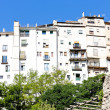 Hanging houses, Cuenca, Castile-La Mancha, Spain - Foto Stock