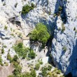 Stock Photo: Hermitage in Galamus Gorge, Languedoc-Roussillon, France
