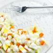 Traditional Czech Christmas potato salad — Stock Photo #11428220