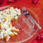 Traditional Czech Christmas potato salad — Stock Photo
