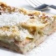 Spinach lasagne with salmon - Stok fotoğraf