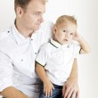 Portrait of father with his little son — Stock Photo #11429416