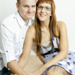 Portrait of hugging couple - Stockfoto