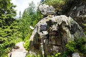 Symbolic cemetery in Vysoke Tatry (High Tatras), Slovakia — Stock Photo