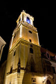 Old Town hall at night, Bratislava, Slovakia — Stock Photo