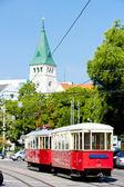 старый трамвай в братиславе, словакия — Стоковое фото