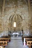 Interior of Church of Saint Mary of Eunate, Road to Santiago de — Stock Photo