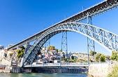 Dom luis io ponte, porto, portogallo — Foto Stock