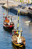 Typical boats (rabelos), Porto, Portugal — Stock Photo