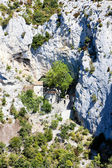 Hermitage in Galamus Gorge, Languedoc-Roussillon, France — Stock Photo