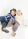 Portrait of brother with sister — Stock Photo