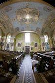 Interior of church, Orlicke Zahori, Czech Republic — Stock Photo