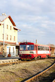Engine carriage at railway station of Dobruska, Czech Republic — Stock Photo