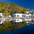 Harbour of Risor, Norway - Stock Photo