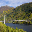 Stock Photo: Bridge by Haldanger fjord, Norway