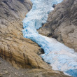 Melkevollbreen Glacier, Jostedalsbreen National Park, near Brigs — Stock Photo