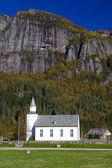 Kilise, ovre sirdal, norveç — Stok fotoğraf