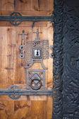 Kapı, hedal stavkirke, norveç — Stok fotoğraf