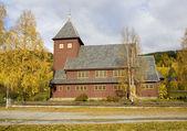 церковь возле torpo, норвегия — Стоковое фото