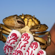 Stock Photo: Crab in hand