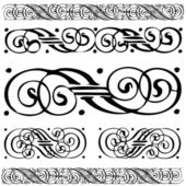 Vector Distressed Ornament Set — Vecteur