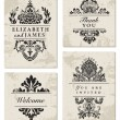 Vector Ornate Frame Set — Stock Vector