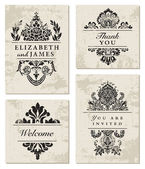 Vector Ornate Frame Set — Vetor de Stock