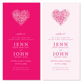 Vector Heart Invitation Frames — Stock Vector