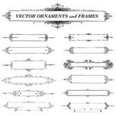 Vector Vintage Frame Set — Stock Vector