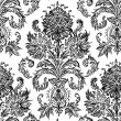 Vector Hand Drawn Damask Pattern EDIT — Stok Vektör
