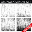 Vector Distressed and Cracked Background Set. — Stock Vector