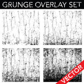 Vector Distressed and Cracked Background Set. — Stockvector