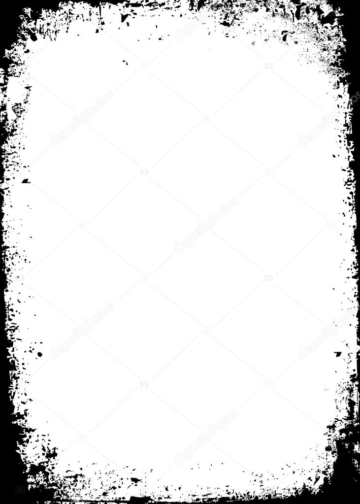 Vector Distressed Border. Simply place over any design to create grunge effect. — Stock Vector #12396263
