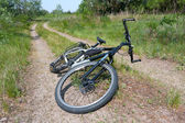 Bike on countryside road — Stock Photo