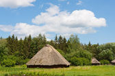 Casas rurales ucranianas tradicionales antiguas — Foto de Stock