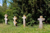Old crosses on cemetery — Stock Photo